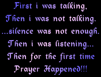 the first-time prayer happened